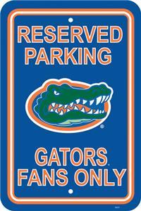 COLLEGIATE Florida Plastic Parking Sign