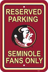 COLLEGIATE Florida State Plastic Parking Sign