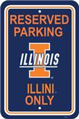 COLLEGIATE Illinois Plastic Parking Sign