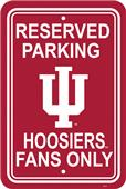 COLLEGIATE Indiana Plastic Parking Sign