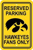 COLLEGIATE Iowa Plastic Parking Sign