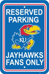 COLLEGIATE Kansas Plastic Parking Sign