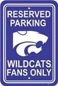 COLLEGIATE Kansas State Plastic Parking Sign
