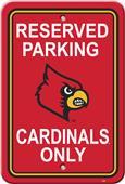 COLLEGIATE Louisville Plastic Parking Sign