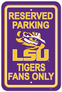 COLLEGIATE LSU Plastic Parking Sign