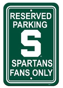 COLLEGIATE Michigan State Plastic Parking Sign
