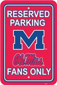 COLLEGIATE Mississippi Plastic Parking Sign