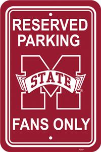 COLLEGIATE Mississippi State Plastic Parking Sign
