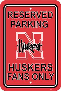 COLLEGIATE Nebraska Plastic Parking Sign