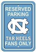 Collegiate North Carolina Plastic Parking Sign
