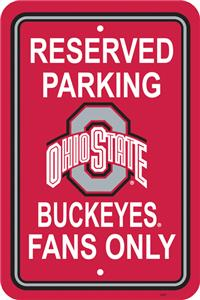 COLLEGIATE Ohio State Plastic Parking Sign