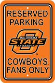COLLEGIATE Oklahoma State Plastic Parking Sign