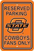 COLLEGIATE Oklahoma State Plastic Parking Sign