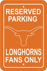 COLLEGIATE Texas Plastic Parking Sign