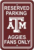 COLLEGIATE Texas A&M Plastic Parking Sign