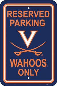 COLLEGIATE Virginia Plastic Parking Sign
