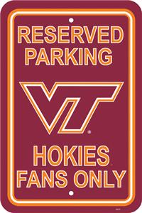 COLLEGIATE Virginia Tech Plastic Parking Sign