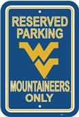 COLLEGIATE West Virginia Plastic Parking Sign