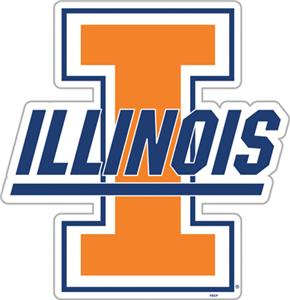 "COLLEGIATE Illinois 12"" Vinyl Magnet"