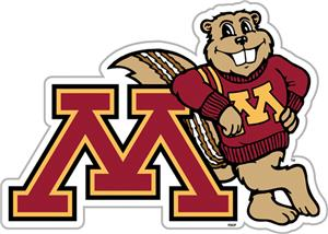 COLLEGIATE Minnesota 12&quot; Vinyl Magnet