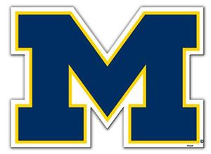 COLLEGIATE Michigan 12&quot; Vinyl Magnet