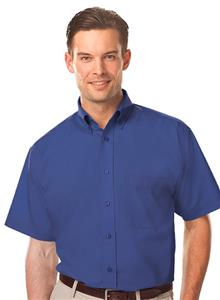 Blue Generation Men's SS Value Poplin Shirts