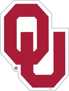 COLLEGIATE Oklahoma 12&quot; Vinyl Magnet