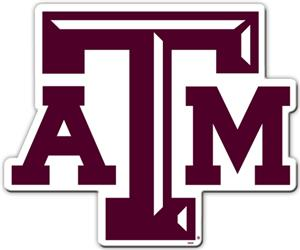 "COLLEGIATE Texas A&M 12"" Vinyl Magnet"