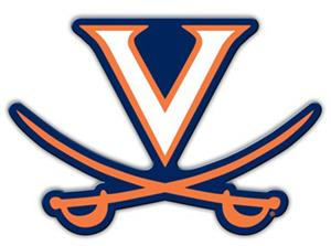 COLLEGIATE Virginia 12&quot; Vinyl Magnet