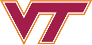 "COLLEGIATE Virginia Tech 12"" Vinyl Magnet"