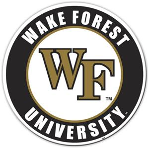 COLLEGIATE Wake Forest 12&quot; Vinyl Magnet