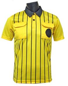 Official Soccer Referee Jerseys- SHORT-Sleeve-GOLD