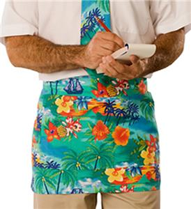Adult Tropic Print Tailgate Cooking Waist Aprons