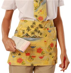 Adult Cocktail Print Tailgate Cooking Waist Aprons