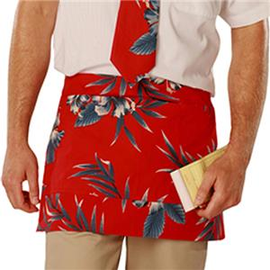 Adult Hibiscus Print Tailgate Cooking Waist Aprons