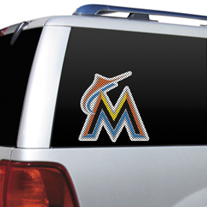 MLB Miami Marlins Auto Diecut Window Film