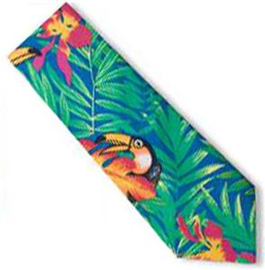 Men's Tucan Tropical Print Shirt Ties