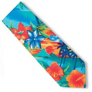 Men&#39;s Tropic Tropical Print Shirt Ties