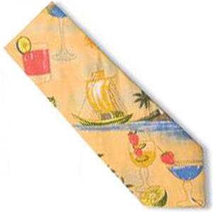 Men's Cocktail Tropical Print Shirt Ties