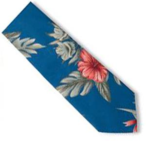 Blue Generation Men's Floral Tropical Print Ties