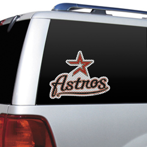 MLB Houston Astros Auto Diecut Window Film