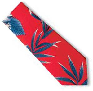 Men's Hibiscus Tropical Print Shirt Ties