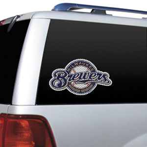 MLB Milwaukee Brewers Auto Diecut Window Film