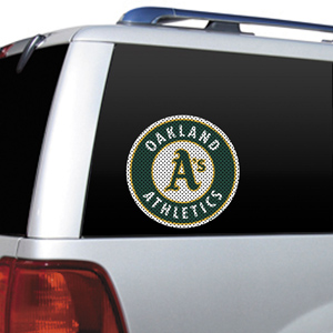 MLB Oakland Athletics Auto Diecut Window Film