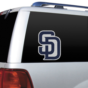 MLB San Diego Padres Auto Diecut Window Film