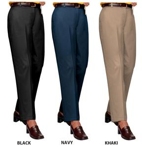 Blue Generation Ladies Flat Front Pants-Plus Sizes
