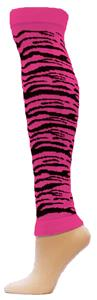 Red Lion Pink Zebra Leg Warmers