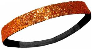 Diamond Duds Orange Glitter Headbands