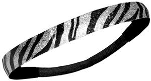 Diamond Duds Black/Silver Zebra Glitter Headbands