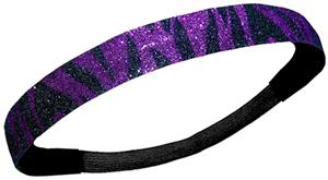 Diamond Duds Purple/Black Zebra Glitter Headbands